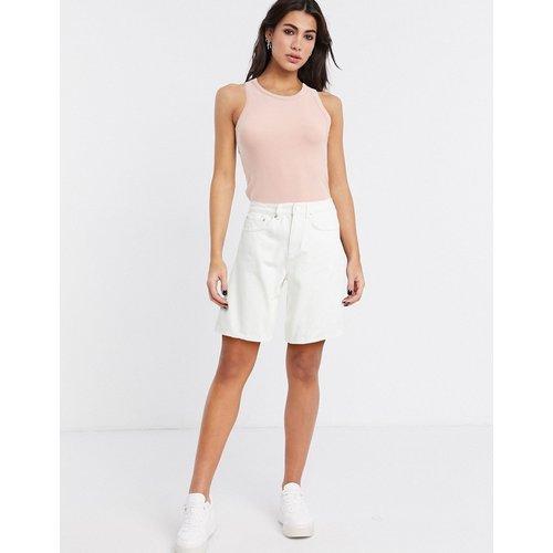 Short large décontracté en jean à taille haute - - ASOS DESIGN - Modalova