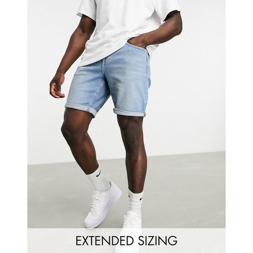 Short slim en jean - délavé moyen - ASOS DESIGN - Modalova