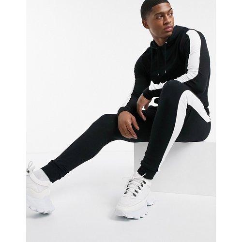Survêtements avec hoodie moulant et jogger super ajusté - à bandes latérales - ASOS DESIGN - Modalova