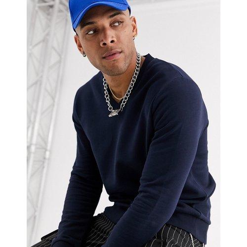 Sweat-shirt col V - Bleu marine - ASOS DESIGN - Modalova
