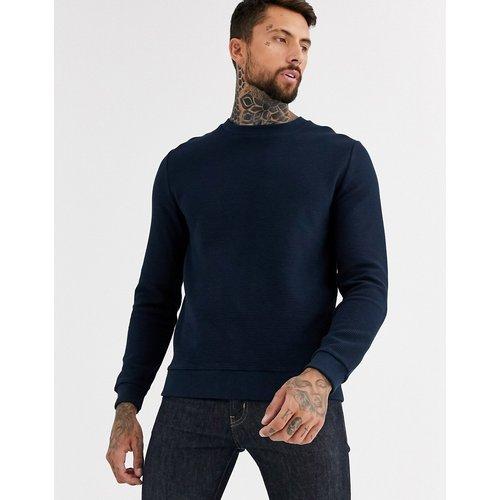 Sweat-shirt côtelé - Bleu marine - ASOS DESIGN - Modalova
