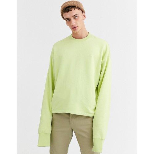 Sweat-shirt court oversize à manches oversize - citron - ASOS DESIGN - Modalova