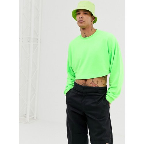 Sweat-shirt court oversize - fluo - ASOS DESIGN - Modalova