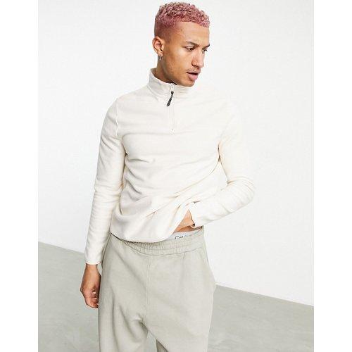 Sweat-shirt en polaire à col zippé - ASOS DESIGN - Modalova