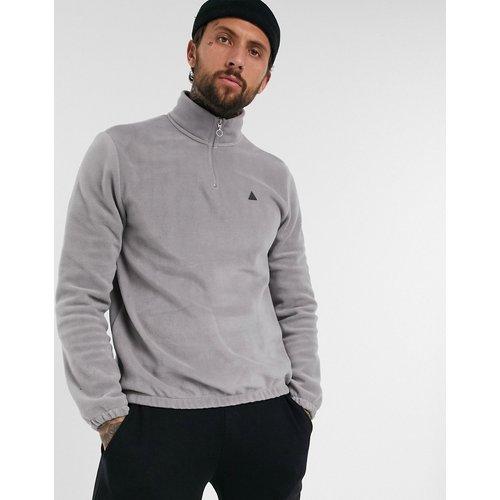 Sweat-shirt en polaire à col zippé avec imprimé triangle - ASOS DESIGN - Modalova