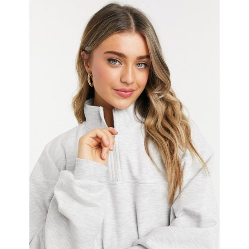 Sweat-shirt oversize à col partiellement zippé - ASOS DESIGN - Modalova