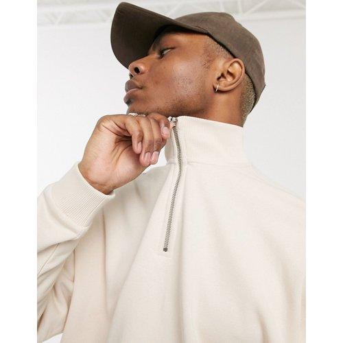Sweat-shirt oversize à col zippé - ASOS DESIGN - Modalova