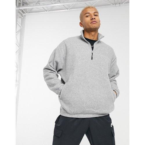 Sweat-shirt oversize à col zippé en polaire - ASOS DESIGN - Modalova