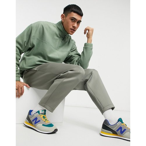 Sweat-shirt oversize à col zippé en polaire- clair - ASOS DESIGN - Modalova