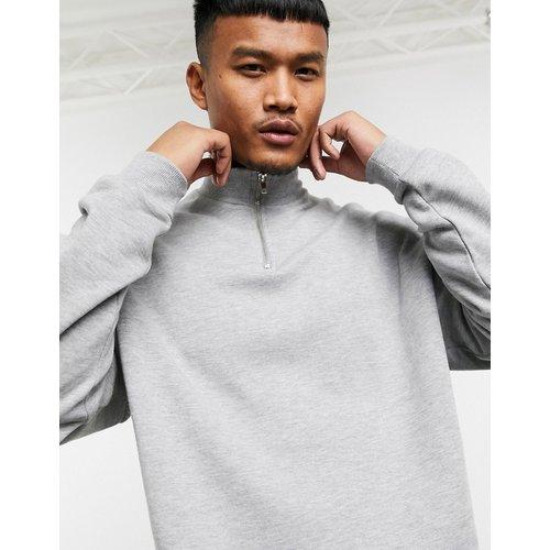 Sweat-shirt oversize à col zippé - chiné - ASOS DESIGN - Modalova