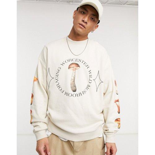 Sweat-shirt oversize à imprimé champignons - ASOS DESIGN - Modalova