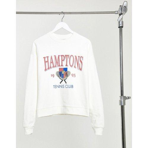 Sweat-shirt oversize à imprimé Hamptons rétro - Écru - ASOS DESIGN - Modalova