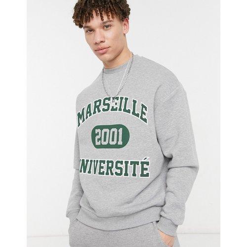 Sweat-shirt oversize à imprimé universitaire vintage - ASOS DESIGN - Modalova