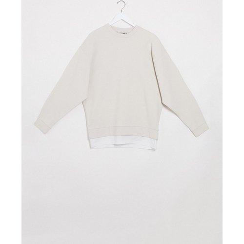 Sweat-shirt oversize avec ourlet façon t-shirt - ASOS DESIGN - Modalova