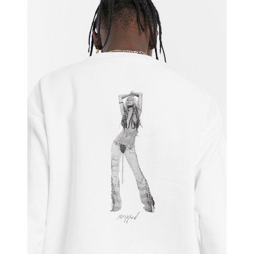 Sweat-shirt oversize col ras du cou avec imprimé Christina Aguilera - ASOS DESIGN - Modalova