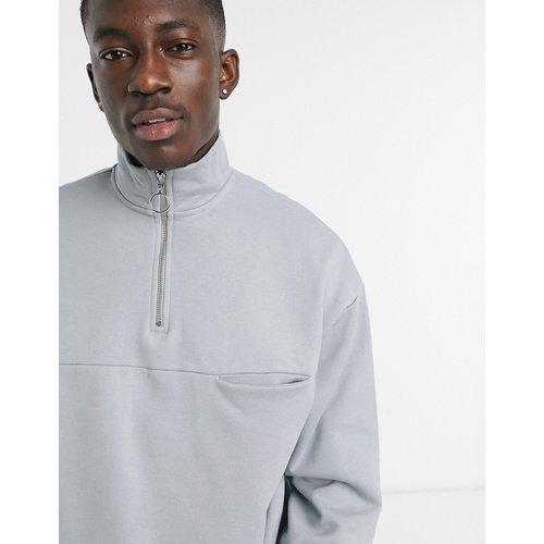 Sweat-shirt oversize épais à col partiellement zippé - ASOS DESIGN - Modalova