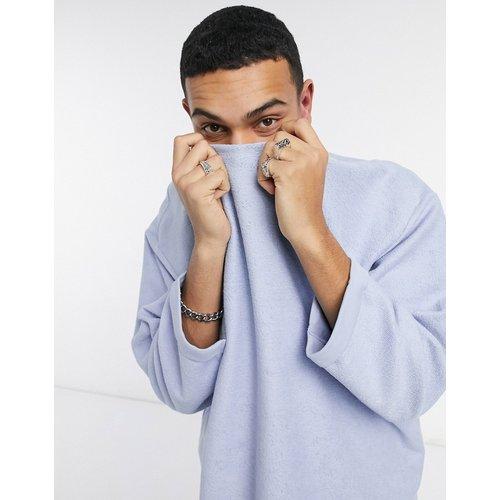 Sweat-shirt oversize texturé à col rond - pastel - ASOS DESIGN - Modalova
