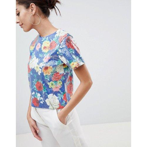T-shirt à imprimé orné de sequins - ASOS DESIGN - Modalova