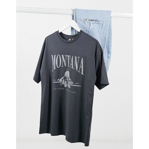T-shirt à imprimé vintage Montana - Anthracite - ASOS DESIGN - Modalova