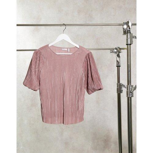 T-shirt à manches bouffantes en plissé - ASOS DESIGN - Modalova