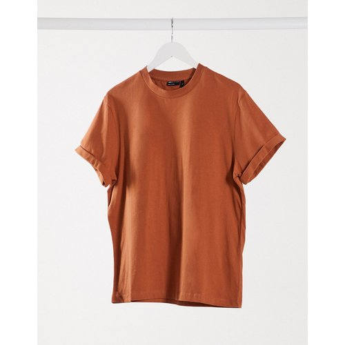 T-shirt à manches retroussées - Fauve - ASOS DESIGN - Modalova