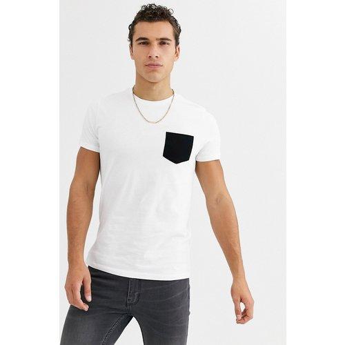 T-shirt à poche contrastante - ASOS DESIGN - Modalova