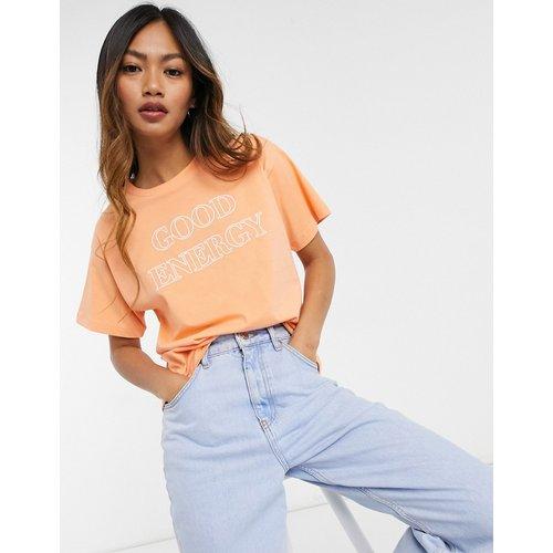 T-shirt avec imprimé Good Energy - Abricot - ASOS DESIGN - Modalova