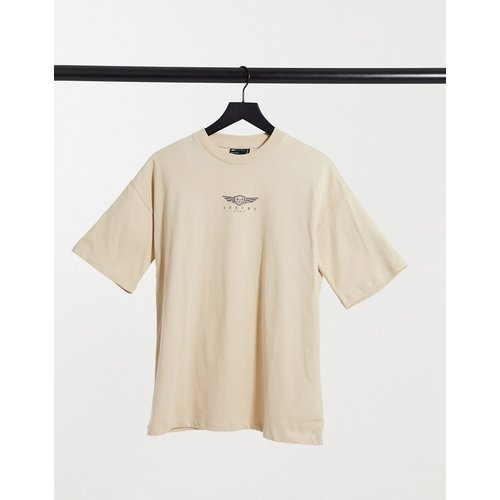T-shirt avec logo graphique «Luxury» - Taupe - ASOS DESIGN - Modalova