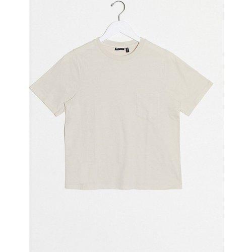 T-shirt avec poche - Taupe délavé - ASOS DESIGN - Modalova