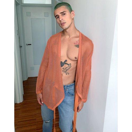 T-shirt cache-coeur décontracté en tulle de coton à manches longues - ASOS DESIGN - Modalova