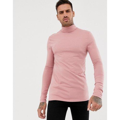 T-shirt col roulé moulant en jersey à manches longues - ASOS DESIGN - Modalova