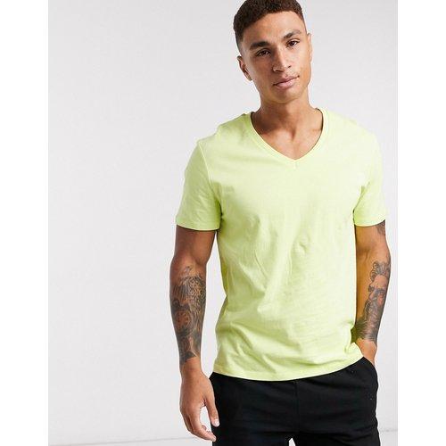ASOS DESIGN - T-shirt col V-Jaune - ASOS DESIGN - Modalova