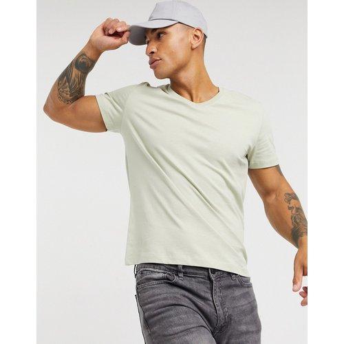ASOS DESIGN - T-shirt col V - Beige - ASOS DESIGN - Modalova