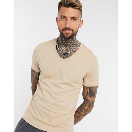 T-shirt col V - foncé - ASOS DESIGN - Modalova