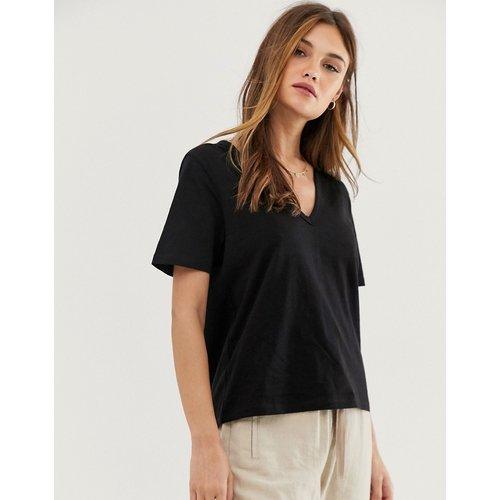 T-shirt col V en jersey flammé - ASOS DESIGN - Modalova