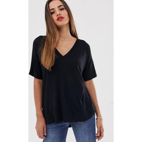 T-shirt col V oversize en jersey texturé - ASOS DESIGN - Modalova