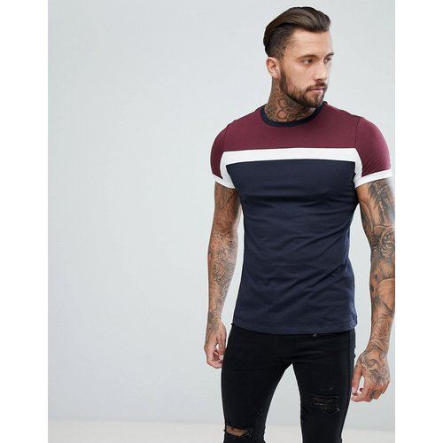 T-shirt color block - Bleu marine - ASOS DESIGN - Modalova