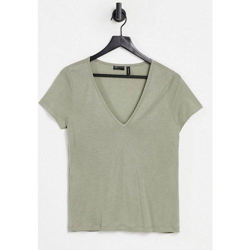 T-shirt décontracté à col en V - Olive - ASOS DESIGN - Modalova