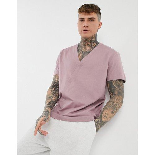 T-shirt décontracté à col en V - délavé - ASOS DESIGN - Modalova