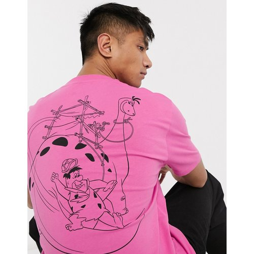 T-shirt décontracté à gros imprimé Pierrafeu au dos - ASOS DESIGN - Modalova