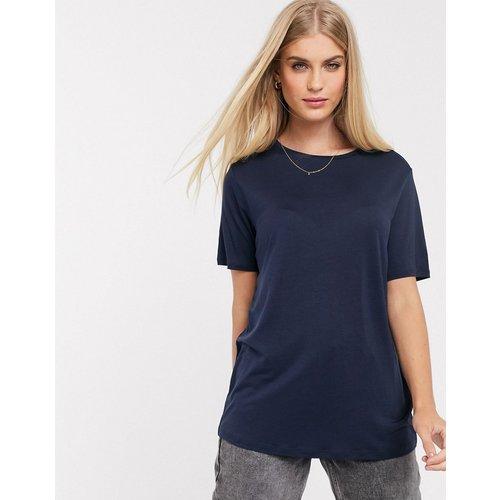 T-shirt décontracté en tissu fluide - Bleu marine - ASOS DESIGN - Modalova
