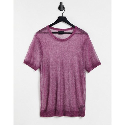 T-shirt en maille effet métallisé (ensemble) - ASOS DESIGN - Modalova
