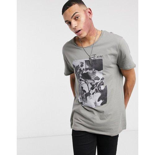 T-shirt long décontracté avec imprimé photo et col brut - ASOS DESIGN - Modalova