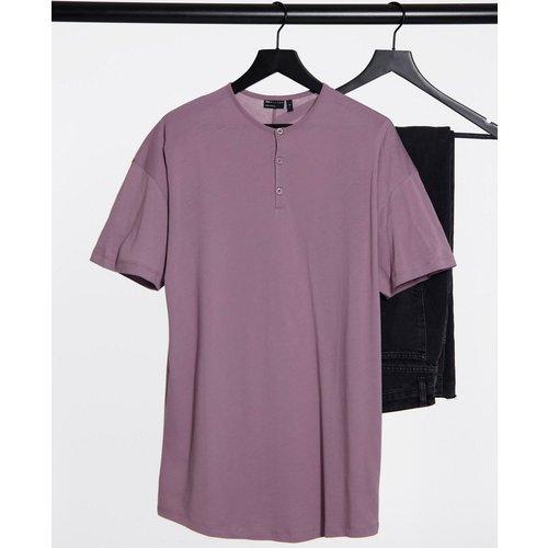 T-shirt long décontracté style grand-père - Lilas délavé - ASOS DESIGN - Modalova