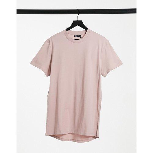 T-shirt long fendu sur les côtés - Lilas - ASOS DESIGN - Modalova