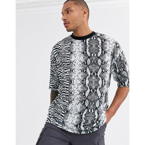 T-shirt long oversize avec imprimé animal sur l'ensemble - ASOS DESIGN - Modalova