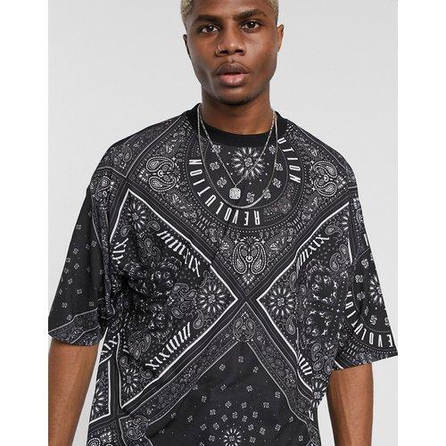 T-shirt long oversize avec imprimé bandana sur l'ensemble et inscription - ASOS DESIGN - Modalova