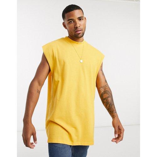 T-shirt long oversize sans manches en piqué - ASOS DESIGN - Modalova