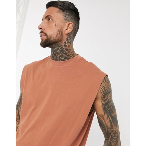T-shirt long oversize sans manches - ASOS DESIGN - Modalova