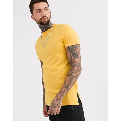 T-shirt long ras du cou fendu sur les côtés - ASOS DESIGN - Modalova